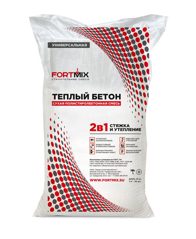 Теплый бетон fortmix засор бетон